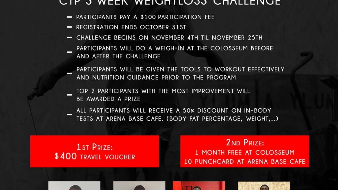 The Colosseum Weight Loss Challenge is BACK!